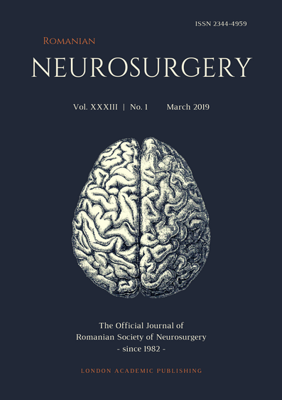 Romanian Neurosurgery (March 2019) XXXIII, 1